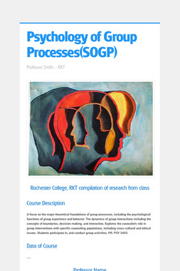 Psychology of Group Processes(SOGP)