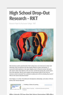 High School Drop-Out Research - RKT