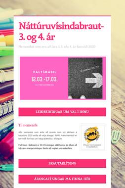 Náttúruvísindabraut- 3. og 4. ár