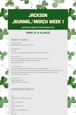JACKSON JOURNAL/MARCH WEEK 1