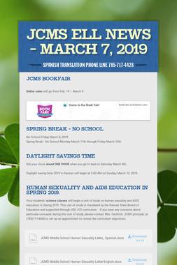 JCMS ELL News - March 7, 2019