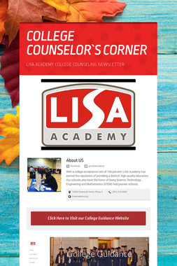 COLLEGE COUNSELOR`S CORNER