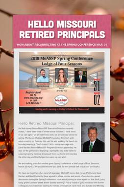 Hello Missouri Retired Principals