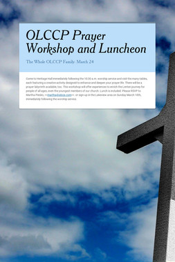 OLCCP Prayer Workshop and Luncheon