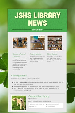 JSHS Library News