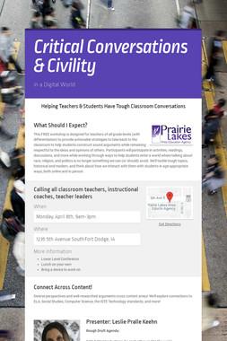 Critical Conversations & Civility