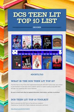 DCS Teen Lit Top 10 List