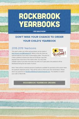 Rockbrook Yearbooks