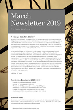 March Newsletter 2019