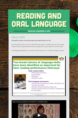 reading and oral language