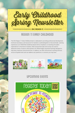 Early Childhood Spring Newsletter