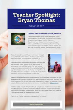 Teacher Spotlight: Bryan Thomas