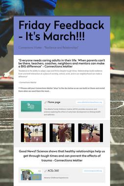 Friday Feedback - It's March!!!