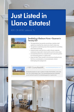 Just Listed in Llano Estates!