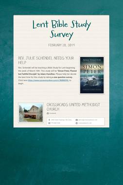 Lent Bible Study Survey