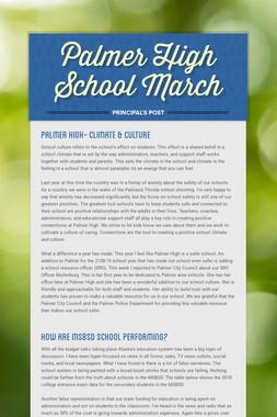 Palmer High School March
