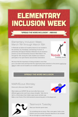 Elementary Inclusion Week