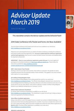 Advisor Update March 2019