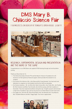 DMS Mary B. Chiaccio Science Fair