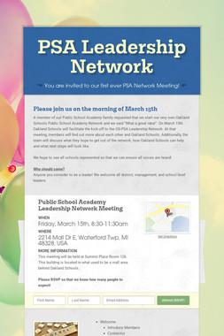 PSA Leadership Network