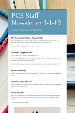 PCS Staff Newsletter 3-1-19