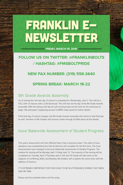 Franklin e-Newsletter