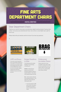 Fine Arts Department Chairs