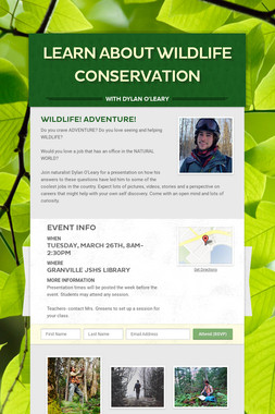 Learn about Wildlife Conservation