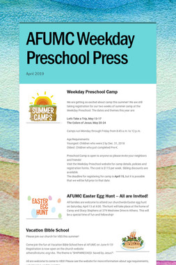 AFUMC Weekday Preschool Press