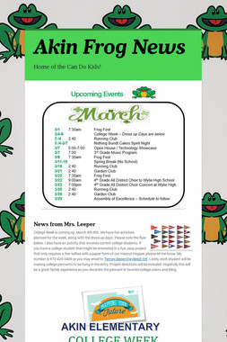 Akin Frog News