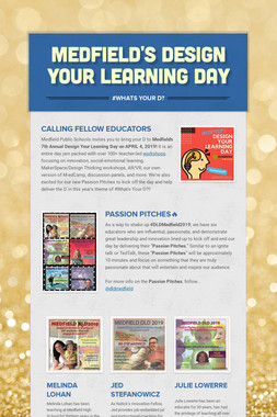 Medfield's Design Your Learning Day