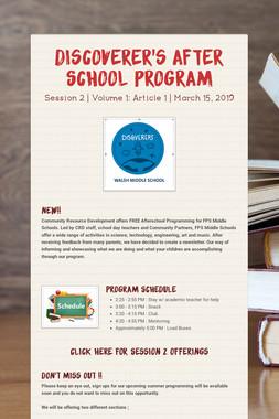 Discoverer's After School Program