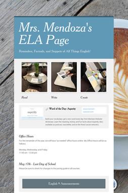 Mrs. Mendoza's ELA Page