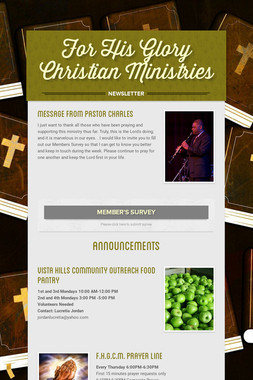 For His Glory Christian Ministries