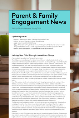 Parent & Family Engagement News
