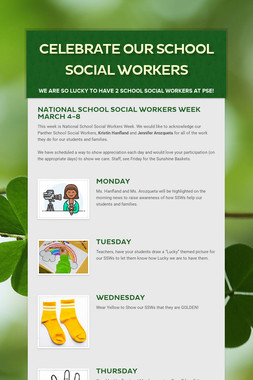 Celebrate our School Social Workers