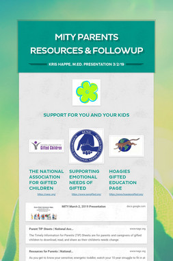 MITY Parents Resources & FollowUp