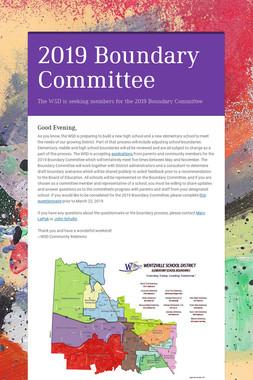 2019 Boundary Committee