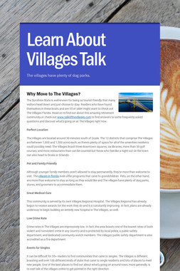 Learn About Villages Talk