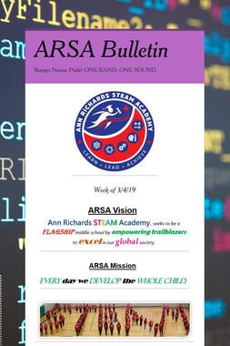ARSA Bulletin