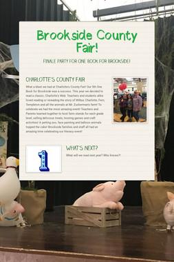 Brookside County Fair!