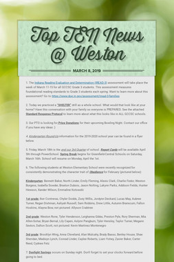 Top TEN News @ Weston