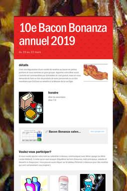 10e Bacon Bonanza annuel 2019