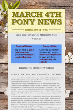 March  4th Pony News