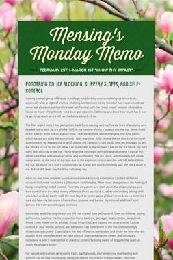 Mensing's Monday Memo