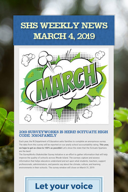 SHS Weekly News March 4, 2019