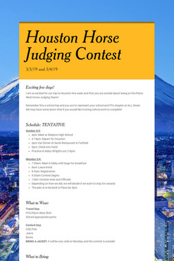 Houston Horse Judging Contest