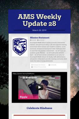 AMS Weekly Update 28