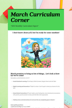 March Curriculum Corner