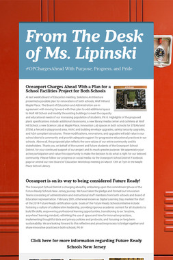 From The Desk of Ms. Lipinski